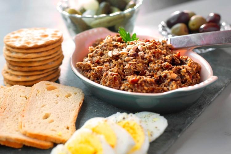 Nut Free-Vegetarian Chopped Liver - Kosher By Gloria