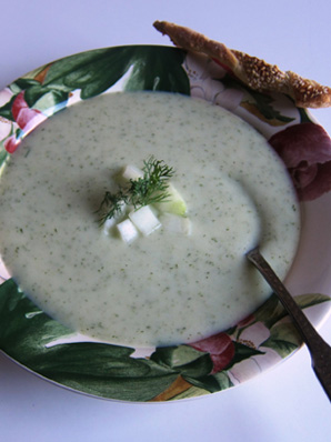 Cream of Cucumber Soup with Dill