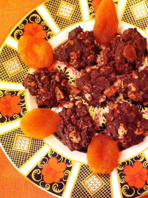 Chocolate, Dried Fruit and Nut Clusters