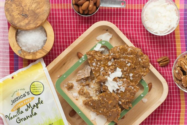 Pecan Almond Coconut Granola Brittle