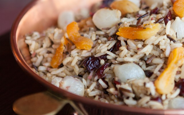Rice Stuffing with Pearl Onions and Dried Fruit