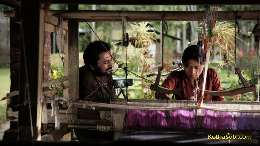 Tapan Das and Tonthoi Devi in 'Borsharanya'