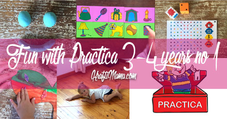 Fun with Practica for 3-4 year olds #1
