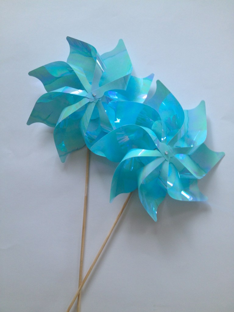 I found these pinwheels at Michaels. They were displayed outside and had a colorful selection.