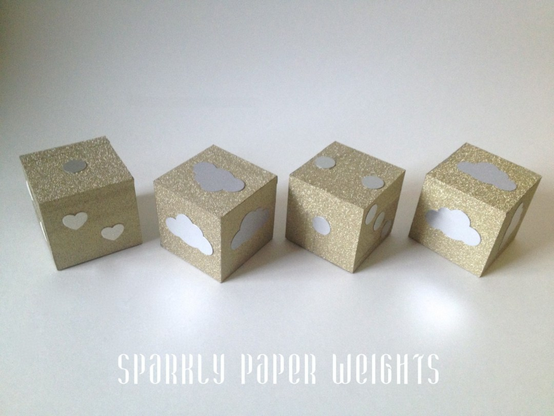 Sparkly Paper Weights from kraftmint.com