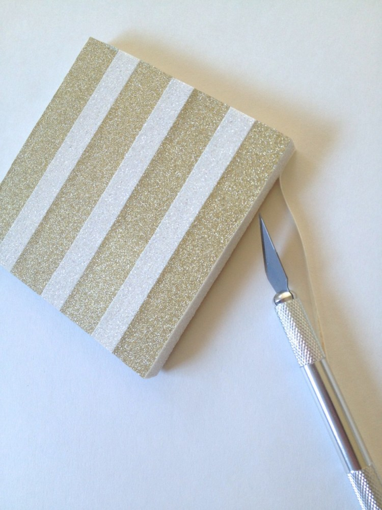 3. Trim the edges with an Exacto knife for a clean finished look.