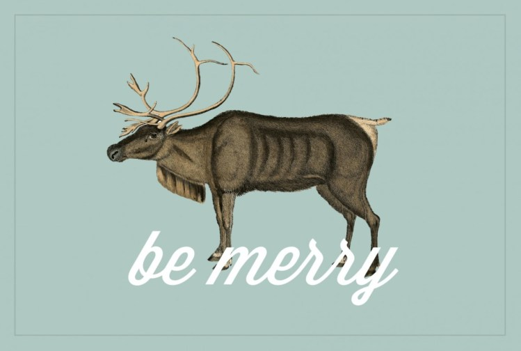 "Freebies: ""Be Merry"" Gift Tags kraft&mint"