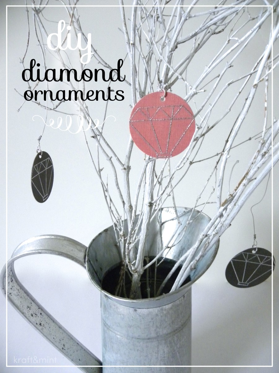 Quick Craft: DIY Diamond Ornaments