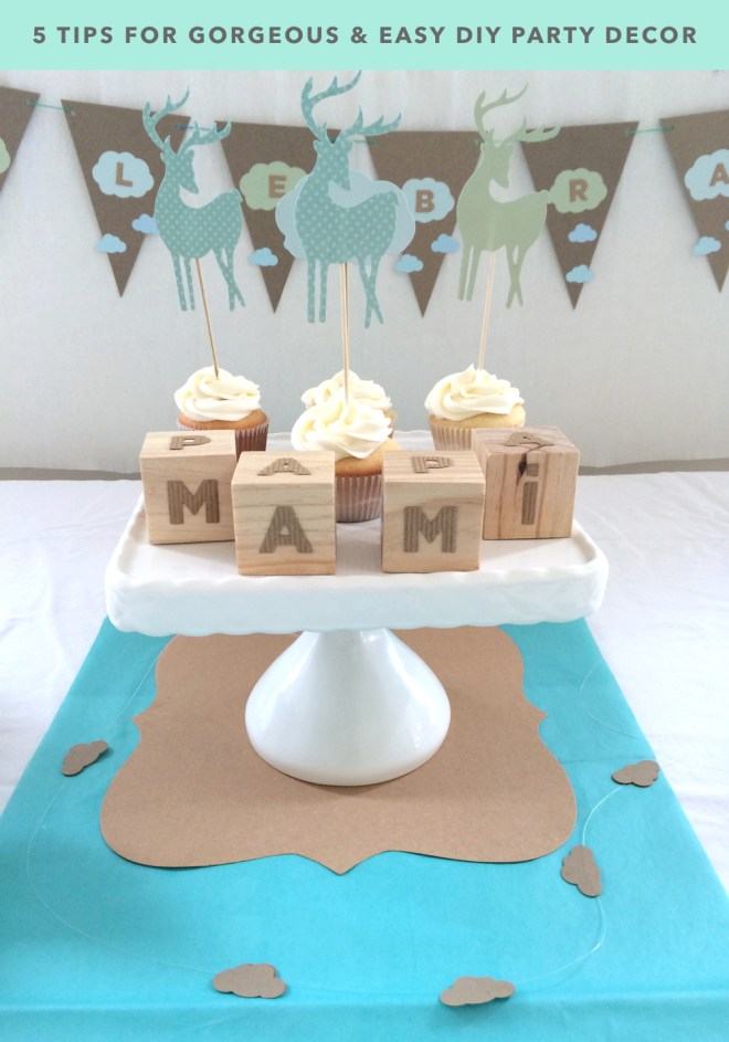 kraft&mint 5 tips for gorgeous and easy DIY Party Decor
