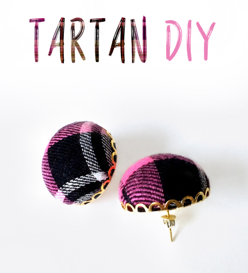 Make a Pair of Trendy Tartan Earrings