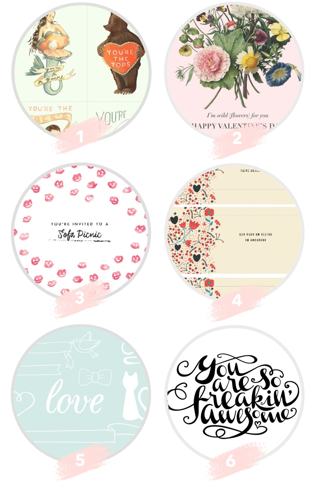 Valentine's Day Notecards Free Printables Roundup by kraft&mint