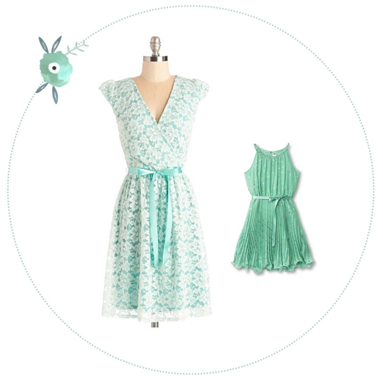 kraftmint Easter dresses for mothers and daughters