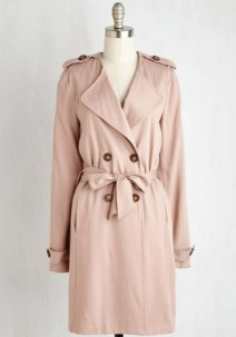 4:Pink trench coat