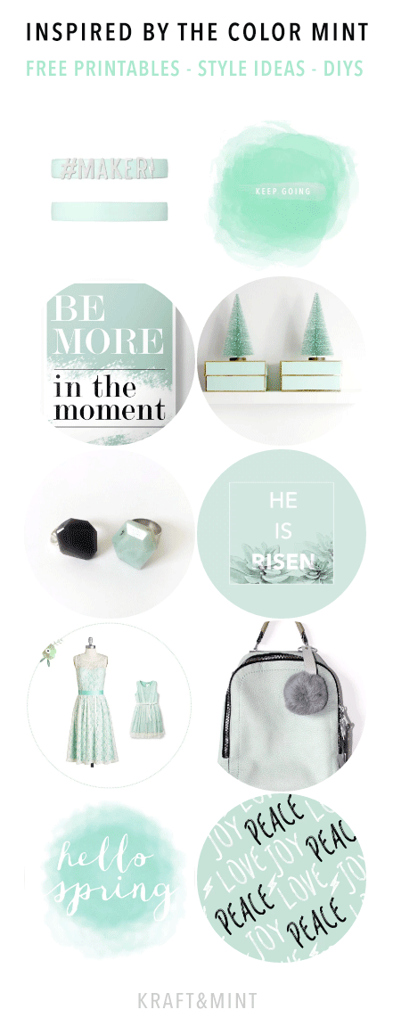 What inspires you? The color mint - KRAFT&MINT
