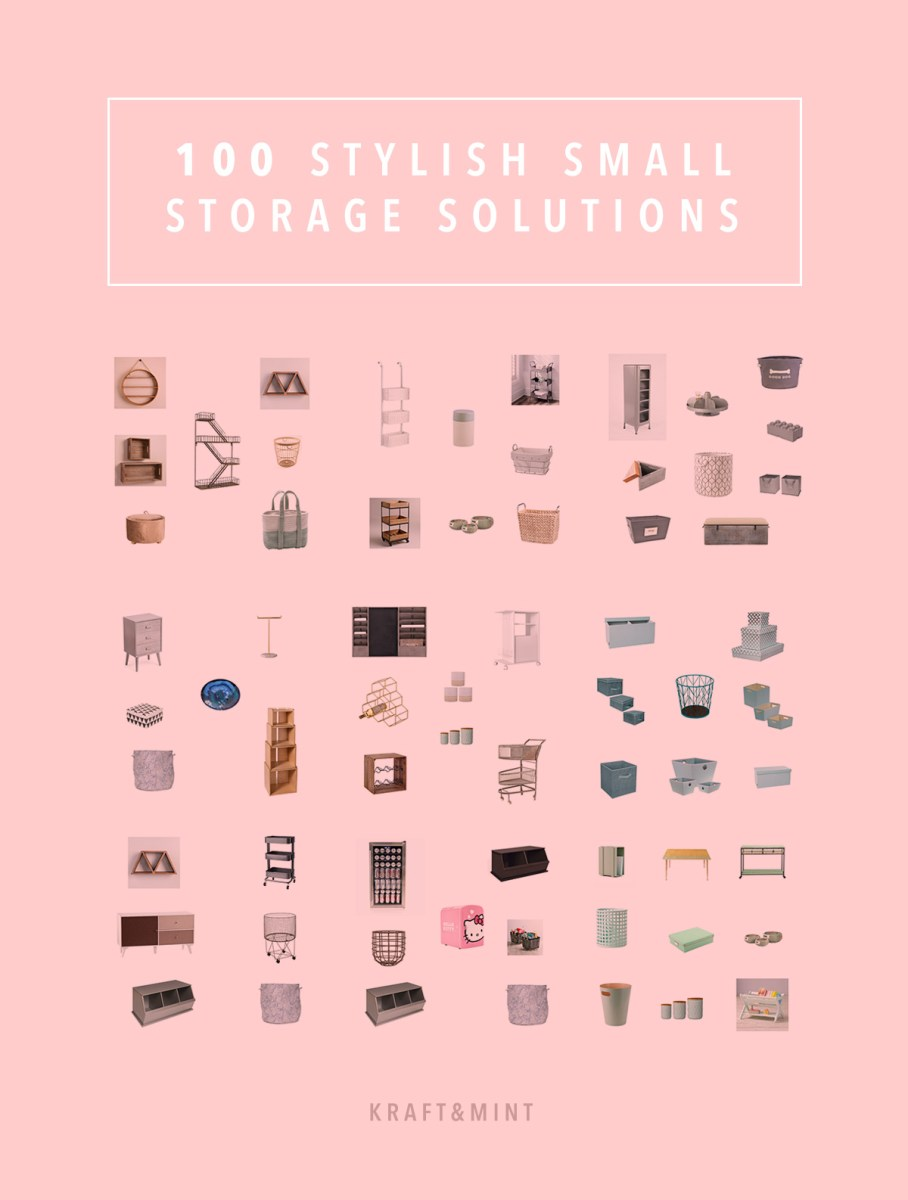 100 Stylish and affordable small storage solutions