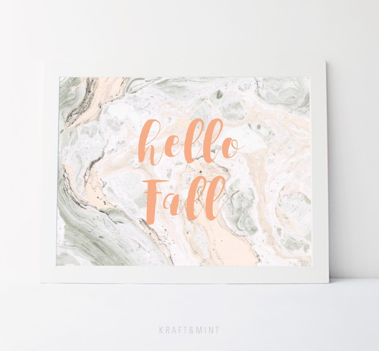 Hello Fall! Printable Home Decor by kraft&mint
