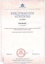 Kvalifikacijos atestatas (Leon Mackel)