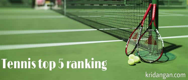 Tennis Top 5 men's  doubles rankings