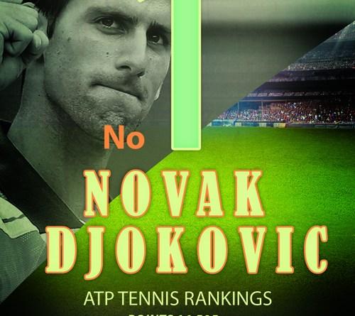 top tennis mens ranking Novak Djokovic - kridangan