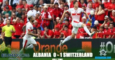 Full-time! Albania 0-1 Switzerland