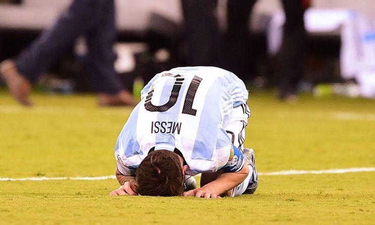 Lionel Messi gestures