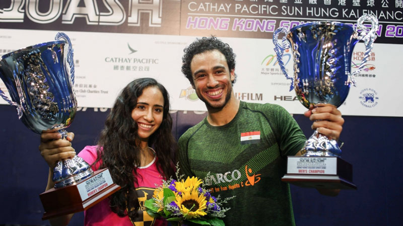 Egyptian Duo of Gohar and Ashour Are Crowned Champions of 2016 Hong Kong Squash Open