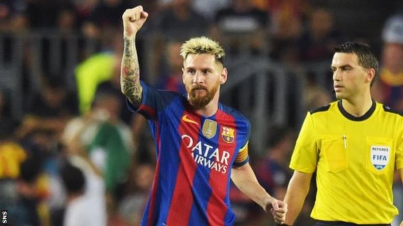 Barcelona FC UCL Messi
