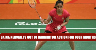 Saina Nehwal is Out of Badminton Action for Four Months
