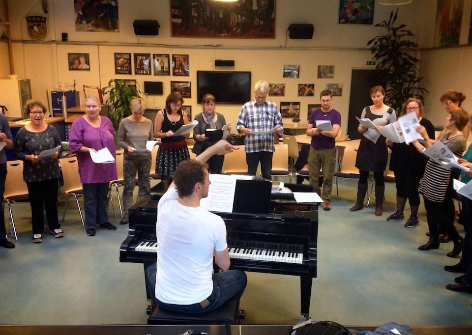 Choir rehearsal @ Gladsaxe Kommune