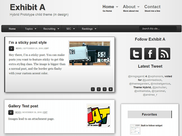 Exhibit A: WordPress child theme