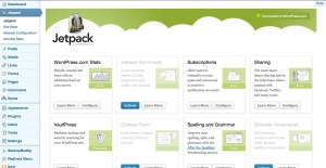 Jetpack non-standard settings page
