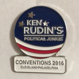 Political Junkie Conventions Pin