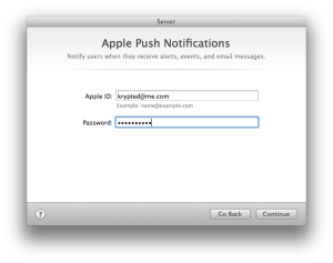 Configure The AppleID for Push Notifications