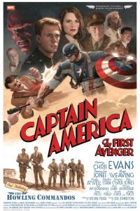 Paolo Rivera's Captain America movie poster, Captain America: The First Avenger. 2011. Gouache and acrylic on illustration board, 16  24''.