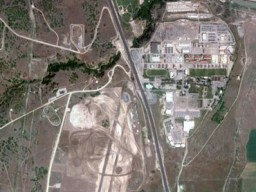 Overview of Camp Williams site before the construction works began. UDC will be located on the west side of the highway, on what was previously an airfield (Image from www.publicintelligence.net)