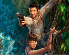 Uncharted characters Nathan 'Nate' Drake and Elena Fisher