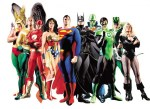 The Justice League, as imagined in this Alex Ross painting.