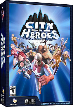 The original Cryptic Studios box art for City of Heroes