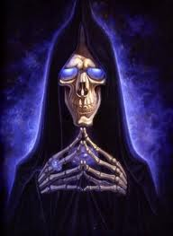 DEATH by Paul Kidby, iconic image from the Discworld Books.
