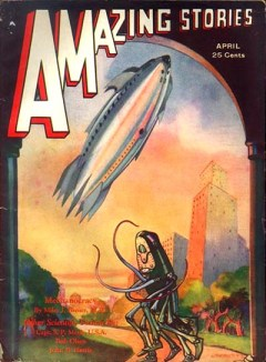 A cover from the original Amazing Stories, from 1932.