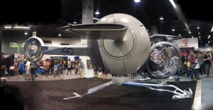 "The ""bubbleship"" from Oblivion, photographed here at Wonder Con 2013."