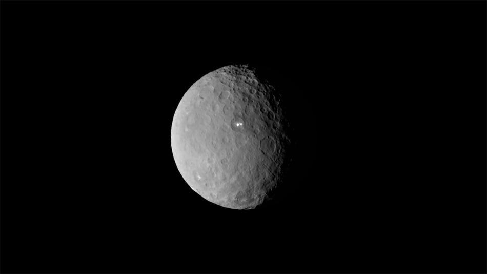 Flight Over Dwarf Planet Ceres