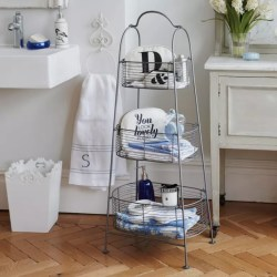 Cheerful Organised Bathroom Shelving Solutions Bring Freestanding Wire Storage Bathroom Storage Ideas To Help You Stay Tidy