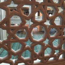 Moskau Moschee Geländer