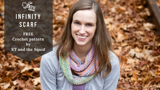 Free Crochet Infinity Scarf Pattern | KT and the Squid