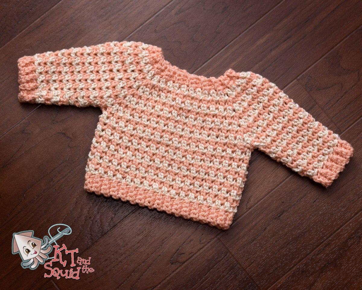 Newborn Cheer Sweater Free Crochet Pattern