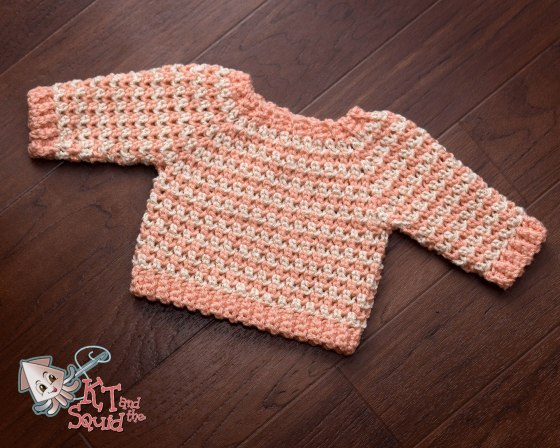 Newborn Cheer Sweater Free Crochet Pattern