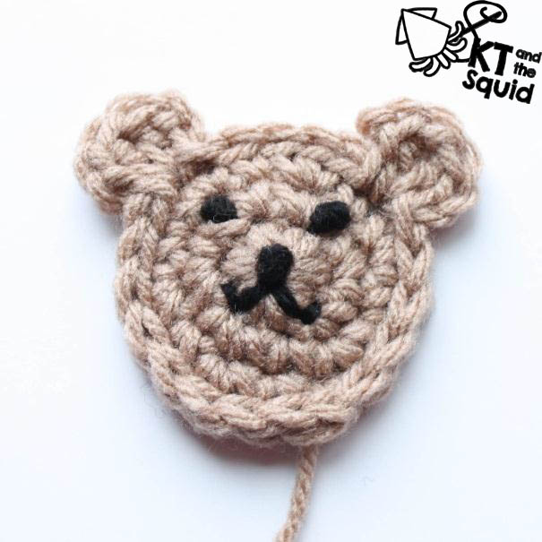 Free Bear Applique Crochet Hat Pattern KT and the Squid ...