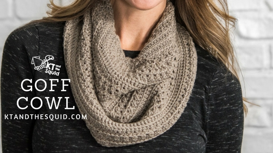 Goff Cowl Crochet Pattern | KT and the Squid