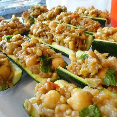 Morocca stuffed zucchini